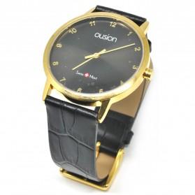 Ousion Quartz Men Leather Band Fashion Watch - OS311G - Black - 2