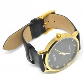Ousion Quartz Men Leather Band Fashion Watch - OS311G - Black - 3