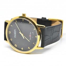 Ousion Quartz Men Leather Band Fashion Watch - OS311G - Black - 4
