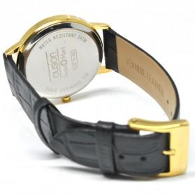 Ousion Quartz Men Leather Band Fashion Watch - OS311G - Black - 5