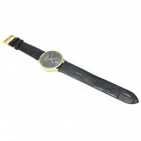 Ousion Quartz Men Leather Band Fashion Watch - OS309G - Black