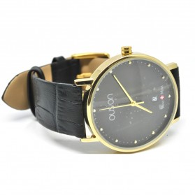 Ousion Quartz Men Leather Band Fashion Watch - OS309G - Black - 2