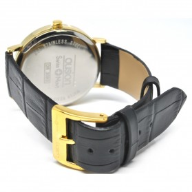 Ousion Quartz Men Leather Band Fashion Watch - OS309G - Black - 3
