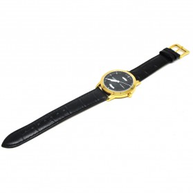 Ousion Quartz Men Leather Band Fashion Watch - OS319G - Black - 1