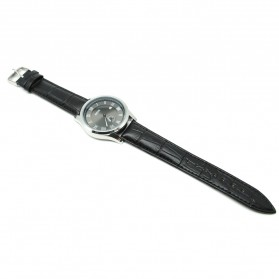 Mortima Jam Tangan Kasual Pria Leather Strap - Model 2 - Black/Black