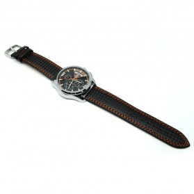 Mortima Jam Tangan Kasual Pria Leather Strap - Model 8 - Orange - 1