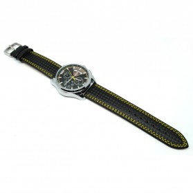 Mortima Jam Tangan Kasual Pria Leather Strap - Model 8 - Yellow