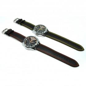 Mortima Jam Tangan Kasual Pria Leather Strap - Model 8 - Yellow - 2
