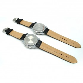 Mortima Jam Tangan Kasual Pria Leather Strap - Model 8 - Yellow - 3