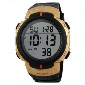 Mortima Jam Tangan Sporty Pria Rubber Strap - Model 18 - Golden
