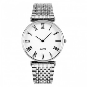 Mortima Jam Tangan Kasual Pria Metal Strap - Model 20 - White