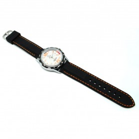 Mortima Jam Tangan Kasual Pria Rubber Strap - Model 3 - Orange