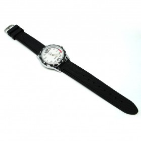 Mortima Jam Tangan Kasual Pria Rubber Strap - Model 3 - Black White