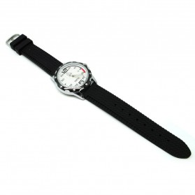Mortima Jam Tangan Kasual Pria Rubber Strap - Model 3 - Black/Black
