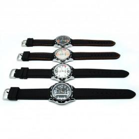 Mortima Jam Tangan Kasual Pria Rubber Strap - Model 3 - Black/Orange - 4
