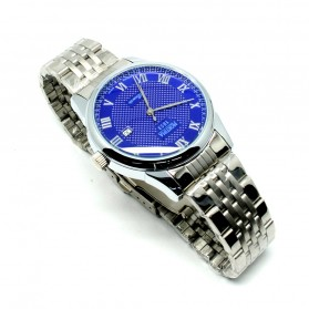 Mortima Jam Tangan Kasual Pria Metal Strap - Model 22 - Blue