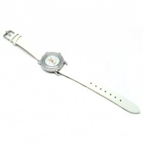 Mortima Jam Tangan Kasual Wanita Leather Strap - Model 4 - White