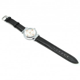 Mortima Jam Tangan Kasual Wanita Leather Strap - Model 7 - Black