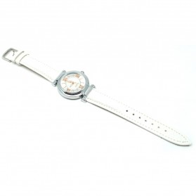Mortima Jam Tangan Kasual Wanita Leather Strap - Model 7 - White
