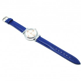 Mortima Jam Tangan Kasual Wanita Leather Strap - Model 7 - Blue