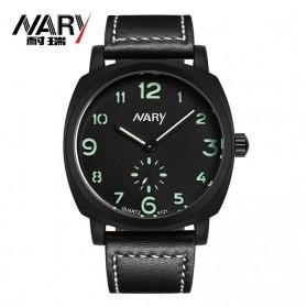 Nary Jam Tangan Analog Strap Kulit - 6119 - Black/Green
