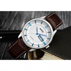 Nary Jam Tangan Analog Strap Kulit - 5400 - Brown/Blue - 2