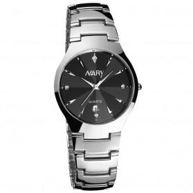 Nary Jam Tangan Analog Strap Stainless Steel - 6112 - Silver Black