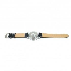 Nary Jam Tangan Analog Strap Kulit - 9003 - Black/Silver - 3