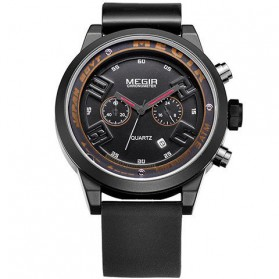 MEGIR Black Eagle Jam Tangan Analog - MN2001G - Black