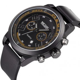 MEGIR Black Eagle Jam Tangan Analog - MN2001G - Black - 2