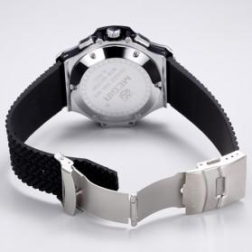 MEGIR Jam Tangan Analog - MN3002GBK - Black/Silver - 4