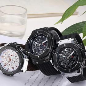 MEGIR Jam Tangan Analog - MN3002GBK - Black/Silver - 5