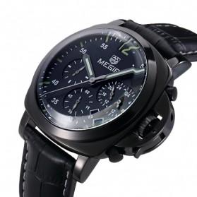 MEGIR Jam Tangan Analog - ML3006G - Black - 2