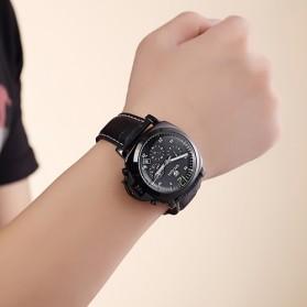 MEGIR Jam Tangan Analog - ML3006G - Black - 5