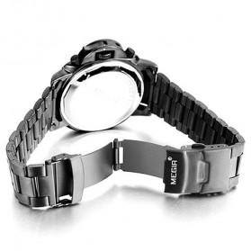 MEGIR Jam Tangan Analog - MS3006G - Black - 3