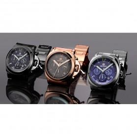 MEGIR Jam Tangan Analog - MS3006G - Black - 5