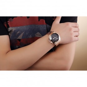 MEGIR Jam Tangan Analog - MS3006G - Black - 6