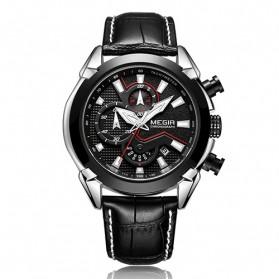 MEGIR Jam Tangan Analog Pria - 2065 - Black - 1