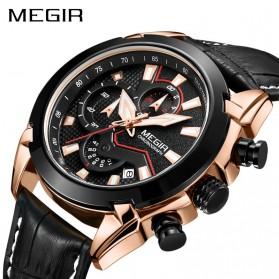 MEGIR Jam Tangan Analog Pria - 2065 - Black - 2