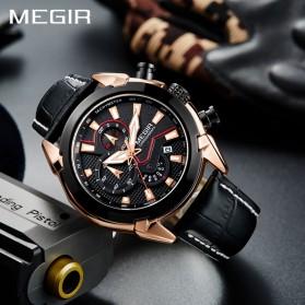 MEGIR Jam Tangan Analog Pria - 2065 - Black - 3
