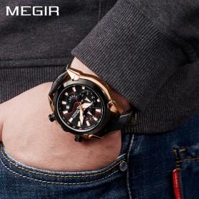 MEGIR Jam Tangan Analog Pria - 2065 - Black - 4
