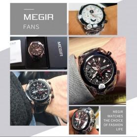 MEGIR Jam Tangan Analog Pria - 2065 - Black - 5