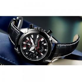 MEGIR Jam Tangan Analog Pria - 2065 - Black - 8