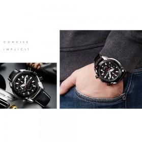 MEGIR Jam Tangan Analog Pria - 2065 - Black - 9