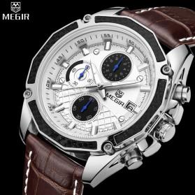 MEGIR Jam Tangan Analog Pria - 2020G - Black - 3