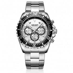 MEGIR Jam Tangan Analog Pria - 2064 - White/Silver