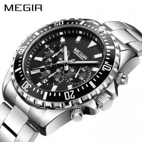MEGIR Jam Tangan Analog Pria - 2064 - White/Silver - 2