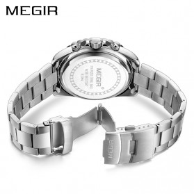 MEGIR Jam Tangan Analog Pria - 2064 - White/Silver - 3