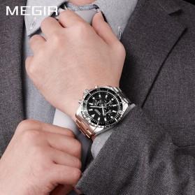 MEGIR Jam Tangan Analog Pria - 2064 - White/Silver - 4