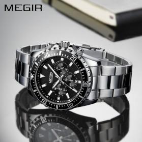 MEGIR Jam Tangan Analog Pria - 2064 - White/Silver - 5